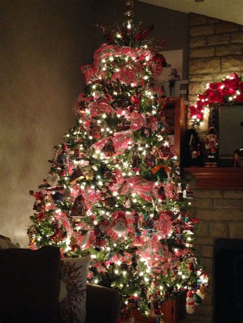 deco mesh christmas tree christmas pinterest