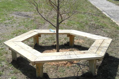 how to make a bench around a tree how to build a tree bench kaboom