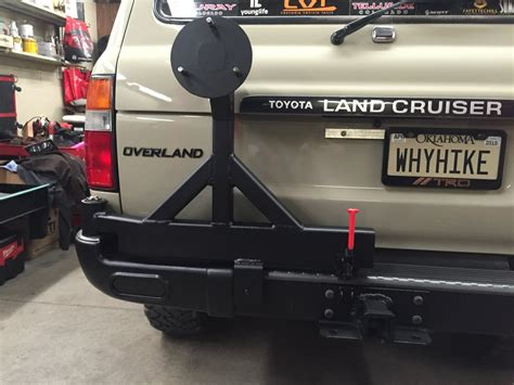 swing out tire carrier kit 80 series factory bumper swing out diy kits ih8mud forum
