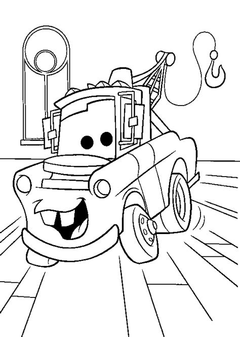 car garage coloring page coloring books the stalwart crane cars to print and free