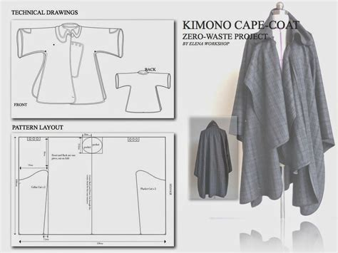 clothes pattern cutting zero waste kimono cape coat have to make one to sew