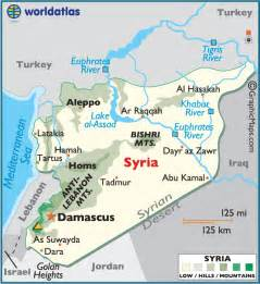 Syria On Map by Syria Large Color Map
