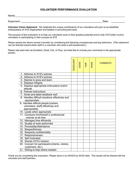 volunteer questionnaire template volunteer feedback form exle wiring diagrams wiring