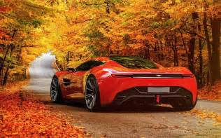 Aston Martin In Aston Martin In Autumn Scenery Wallpapers Aston Martin