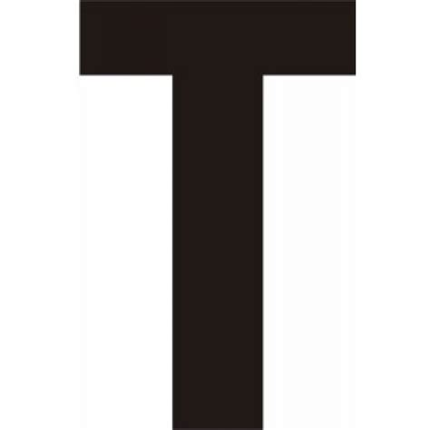 Name Letter T wholesale diy trade products 75mm black helvetica bold
