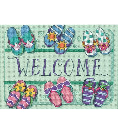 Welcome Mat Size Dimensions Welcome Mat Mini Counted Cross Stitch Kit At