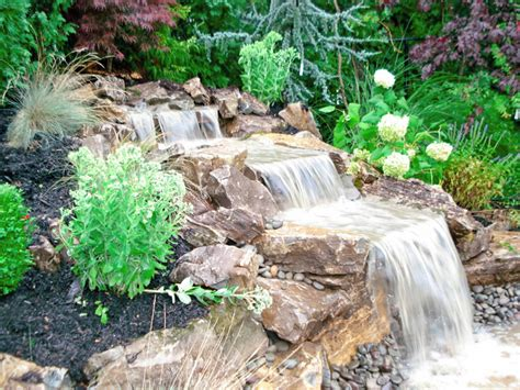 how to build a backyard waterfall outdoor waterfall long island good some plant green color
