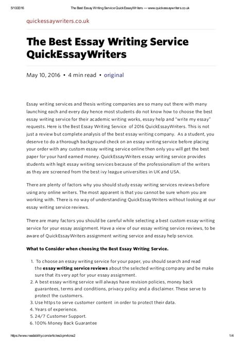 Uk Essay Writing Services by Best Essay Writing Service Www Zarowkiledowe