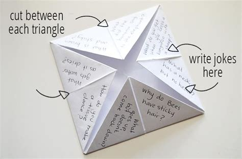How Do You Make A Paper Chatterbox - make a chatterbox joke teller for april fools day kidspot
