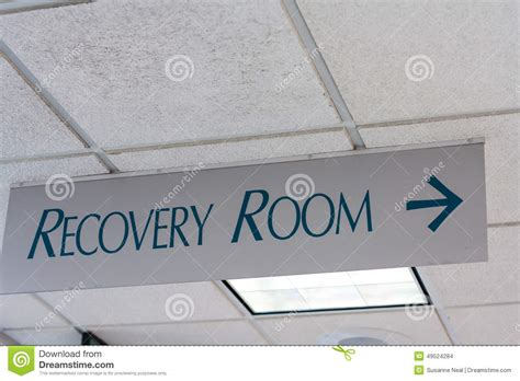 Ceiling Signs by Recovery Room Sign On Hospital Ceiling Stock Photo Image