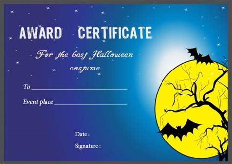 costume certificate template costume certificates with best designs and