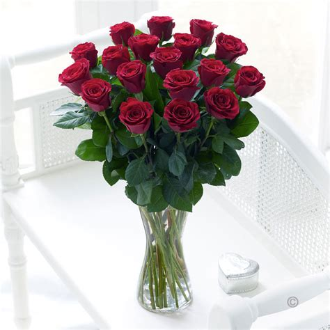 A Vase Of Roses by Large Vase Tom Wood Florists Order Flowers