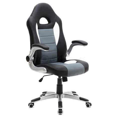 Gaming Chair Desk Sport Racing Car Office Chair Leather Adjustable Arms Gaming Desk Ebay