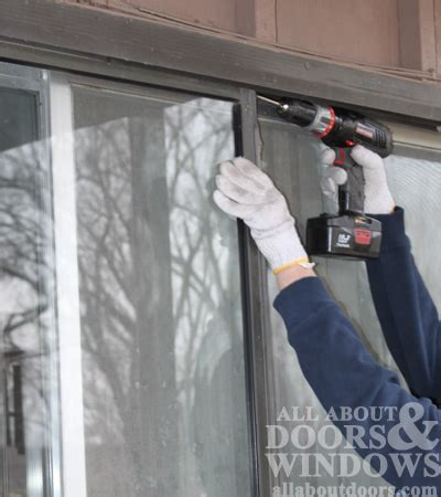 How To Remove Sliding Glass Doors How To Replace Rollers In Aluminum Sliding Glass Doors