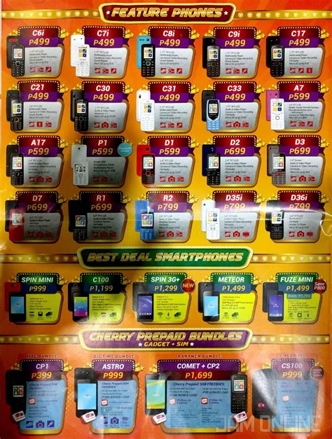 heres  entire price list   cherry mobile festival  unbox ph