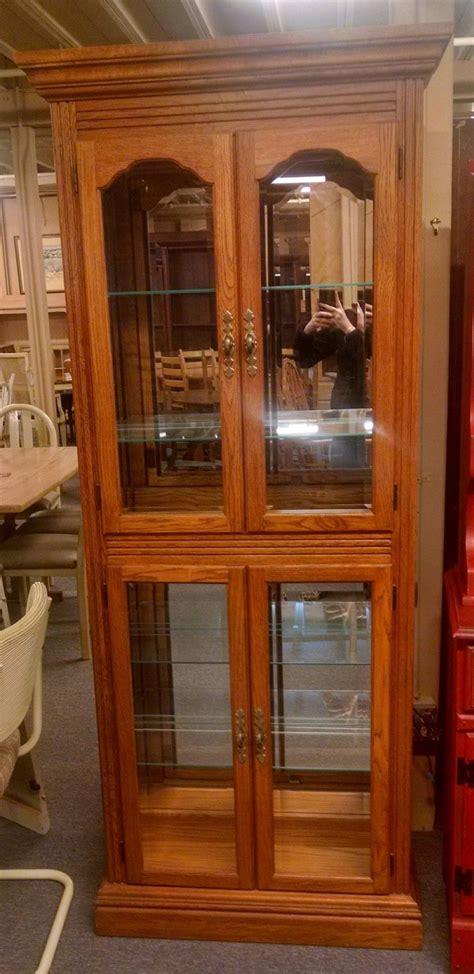 oak curio cabinet delmarva furniture consignment
