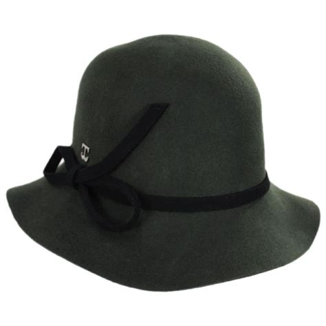 Bow Cloche Hat callanan hats bow accent wool felt cloche hat cloche