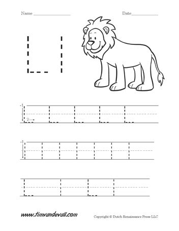 letter l worksheet tim s printables