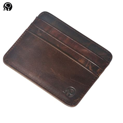 s leather credit card holder s womens real leather small id credit card wallet holder slim pocket