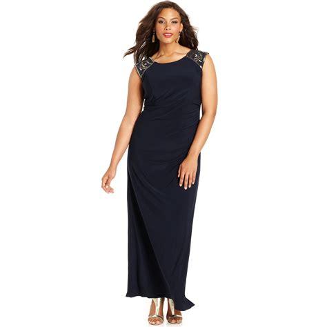 xscape beaded dress xscape xscape plus size dress capsleeve beaded gown in