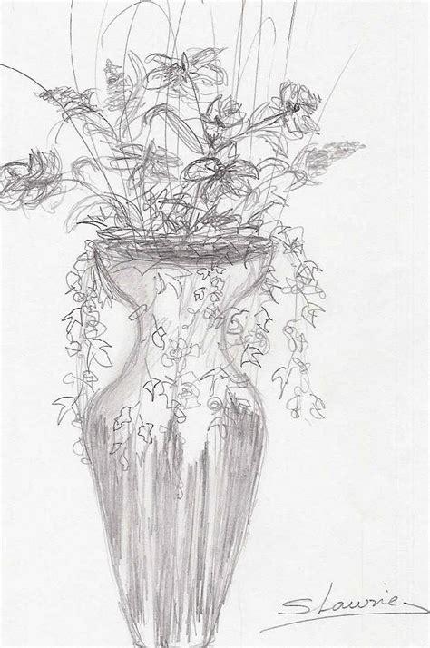 imagenes de jarrones a lapiz jarron con flores silvia lawrie artelista com