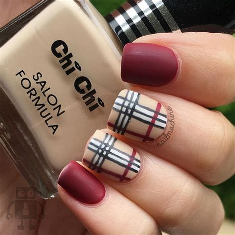 burberry pattern nails burberry nails inspired by nailsbycameron nail art