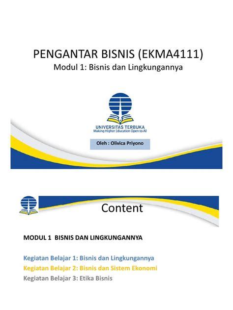 pengantar bisnis 1 ekma4111 pengantar bisnis modul 1 pdf