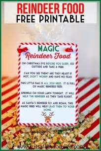 Magic reindeer food poem amp free printable also includes the reindeer
