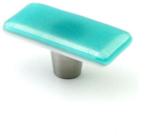 Turquoise Cabinet Pulls by Iridescent Glass Knobs And Pulls Turquoise 1 Quot X 2