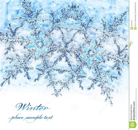 snowflake blue decorative border stock photo image 22473510