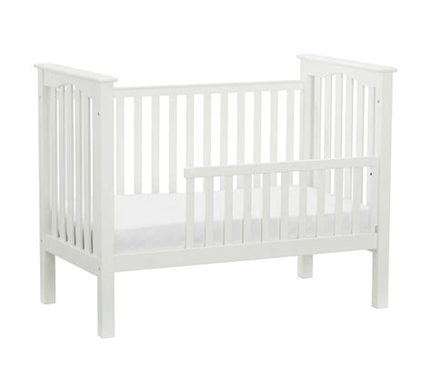 When To Convert Crib To Toddler Rail Kendall Toddler Bed Conversion Kit Pottery Barn