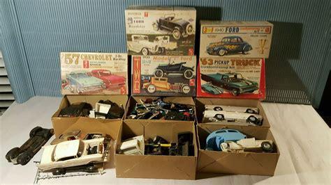 model kits lot of vintage model kit boxes amt model kits 89 00