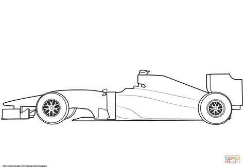 blank race car templates disegno di auto da formula 1 spoglia da colorare disegni