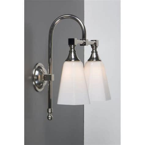 Traditional Bathroom Lighting Uk Ip44 Traditional Bathroom Wall Light In Satin Nickel With Opal Shades