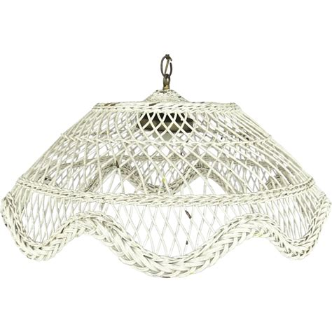 Wicker Chandelier Vintage White Painted Wicker Domed Hanging Light Chandelier Black Tulip Antiques Ltd Ruby