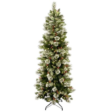 7 foot ozark pine christmas tree national tree company 7 1 2 ft wintry pine slim hinged artificial tree with 400 clear