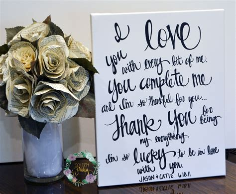 wedding vows on canvas lettered wedding vows on canvas black and white