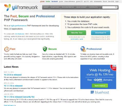 tutorial php framework yii 11 best php frameworks for web developers