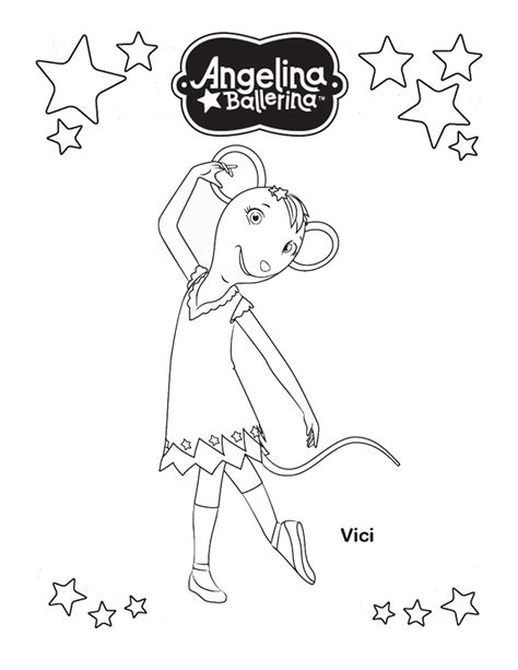 coloring pages of angelina ballerina angelina ballerina coloring pages to download and print
