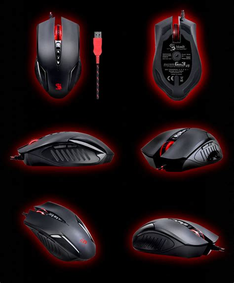 Mouse Gaming Bloody V5 a4tech multi gun3 gaming mouse v5 review evil avatar