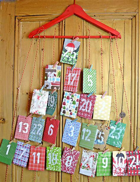 how to make a paper calendar paper envelope advent calendar pillar box blue