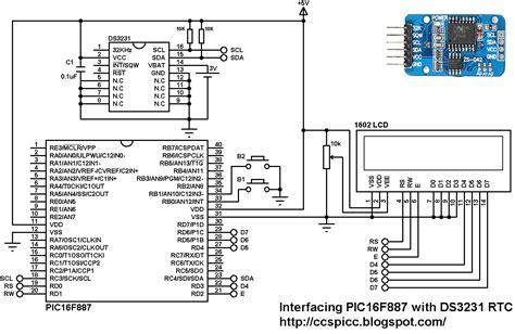 pull up resistor pic16f887 interfacing ds3231 with pic16f887 microcontroller