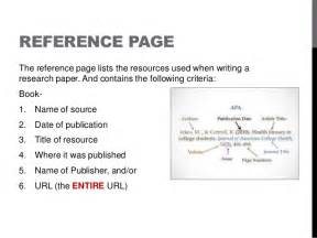Apa Essay References by Apa Format Style Power Point
