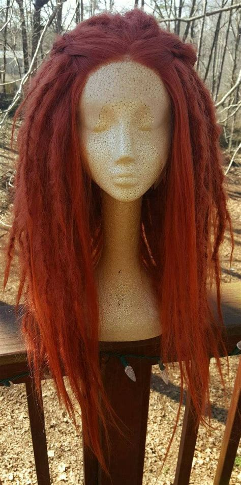 lace front dreadlocks ginger dreadlock wig synthetic lace front dreads