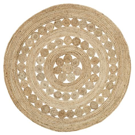 6 jute rug celeste 6 foot jute rug by vhc brands the patch