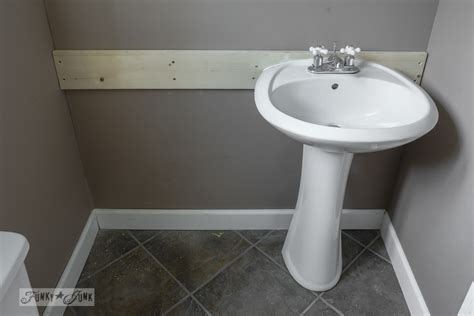 How To Install Pedestal Sink To Wall how to install a pedestal sink without wall studsfunky junk interiors