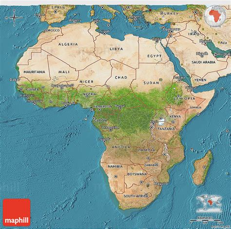 africa map 3d satellite 3d map of africa