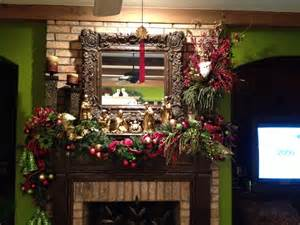 Fireplace mantel decorations on decor with christmas decorating ideas