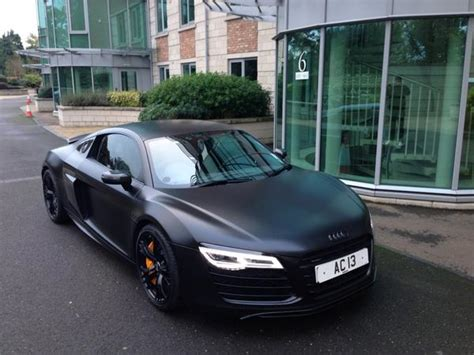 audi r8 wrapped lewis hunt on quot ac13premier satin black wrapped