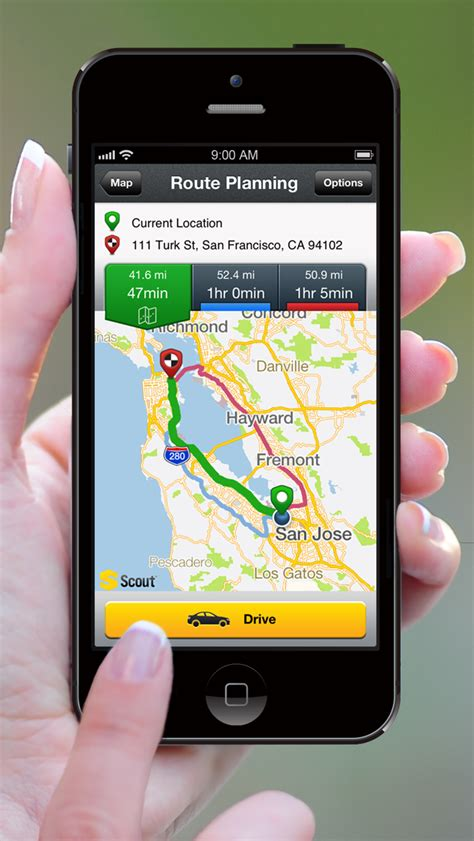scout gps voice navigation app  iphone  support
